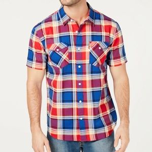 Levi's Plaid Short Sleeve Button Up•NWT